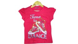 Cotton Casual Wear Girls Kids Red Printed T Shirt, Size: 2to8years