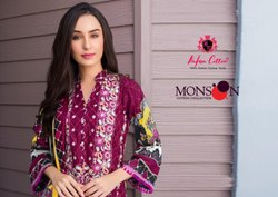 Pakistani Unstitched Monsoon Karachi Cotton Suit, Machine wash