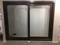 Plain Wooden Sliding Glass Door, For Home