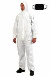 Washable PPE Kit for Saloon- White/Blue