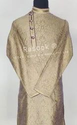 Golden Brocade Kurta Pajama