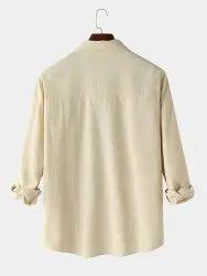 Printed Collar Neck Chest Print Plain Lapel Casual Shirt