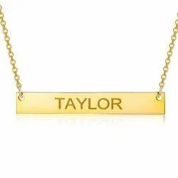 Laser Engraving Custom Name Necklace