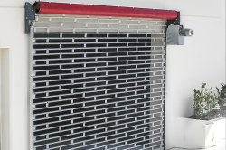 Colored Iron Grill Rolling Shutter