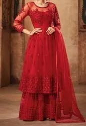 Embroidered Cotton Ladies Dress, Machine wash