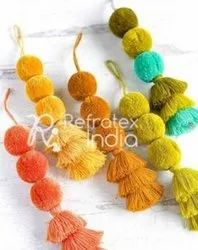 Beautiful Pom Pom Tassel
