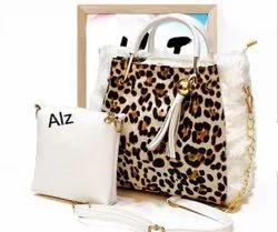 Ladies Designer Cream Handbag Set