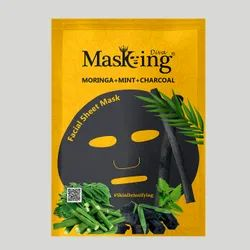 MASKING - MORINGA+MINT+CHARCOAL FACIAL SHEET MASK