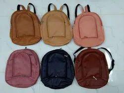 Rexine Plain Fashionable Ladies College Bag
