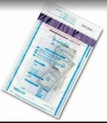 LDPE Printed Tamper Evident Cash Bags, Thickness: 50 Micron