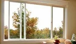 White Residential and Commercial UPVC Sliding Windows, Glass Thickness: 6mm Clt