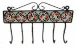 Iron Cloth Hook Hand Painted Ceramic Wall Hooks