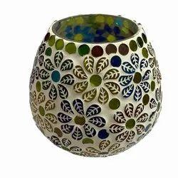 Mosaic Glass Tealight Holder