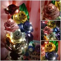 Foam CraftAngls Glitter Rose Bouquet 106