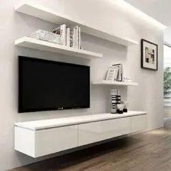 White Free Unit Wooden Modern TV Cabinet