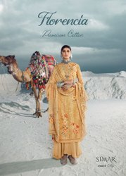 Glossy Florencia Pure Lawn Cotton Embroidered Salwar Suit Catalog