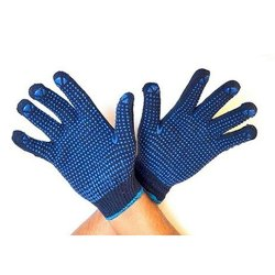Dotted Blue Gloves