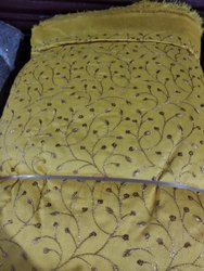 Dhupion Embroidered Fabric
