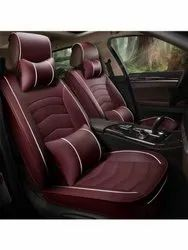 Maroon Rexine Car Seat Cover