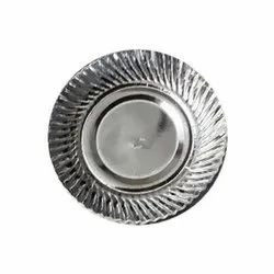 Wrinkle Silver Foil Paper Plates, Paper GSM: 150, Size: 10 Inch