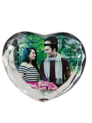 Heart Shape Crystal Photo Frame