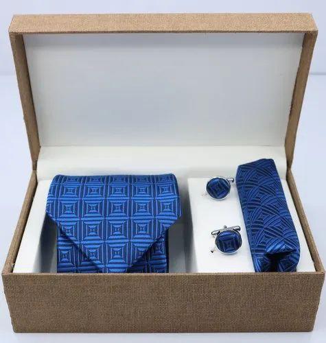 Standard Blue Micro Tie Set