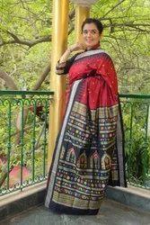 Utkaladitri Festive Wear Ladies Dolabedi Silk Saree, 6.3 m (with blouse piece)