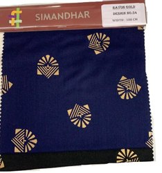 Rayon Gold Print Kurti Fabric, Weight: 12 Kg, Width: 108 Cm