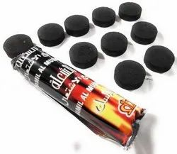 Wood Round Coconut Hookah Coal, Packaging Type: Packet, Packaging Size: 10 Pieces