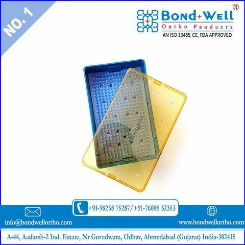 Medium Plastic Sterilization Tray With Strip