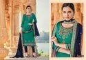 Triple AAA Kajal Jam Silk With Embroidered Dress Material Catalog