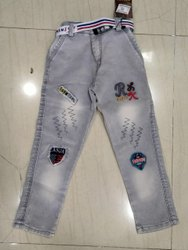Casual Wear Stretchable Kids Classic Denim Jeans, Handwash