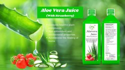 1000 ml Aloe Vera Strawberry Juice