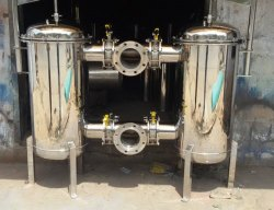Define Silver SS Duplex Filter Housings, For Industrial