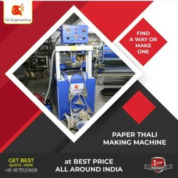 Fully Automatic Hydraulic Diamond Thali Plate Making Machine