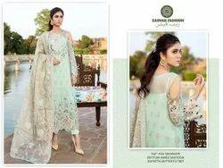 Zainab Fashion Wedding Wear Ladies Suit, Machine wash