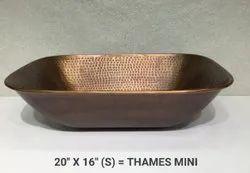 Table Top Thames Mini Copper Wash Basin, For Bathroom