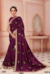 Fancy Designer Vichitra Silk Saree