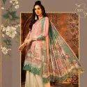 Lawn Cotton Printed Unstitched Salwar Suit -4 Pcs