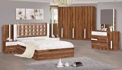 Brown Engineering Wood New Design Bedroom Sets Wardrobe, For Home