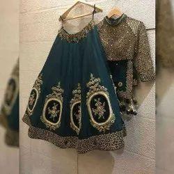 Present Satin Silk With Embroidery Work Wedding Lahenaga Choli