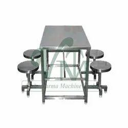 VMT Polished Stainless Steel Restaurant Table, For Restaurants