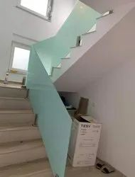 Glass Stair Railing, For Home