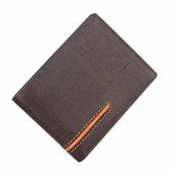 Brown Premium Bi-Fold Leather Wallet, Card Slots: 6