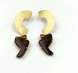 Agate Gold Plated Charms Earning