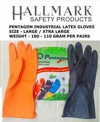 Pentagon Orange/ Black Industrial Gloves