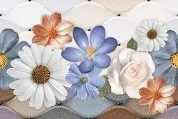 Multicolor Gloss 300x450 mm Ceramic Bathroom Wall Tile