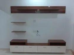 Sukriti Plywood & Laminate Modular Tv Unit, For Home