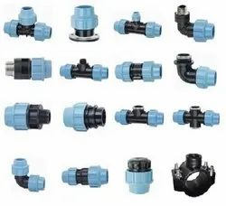 Adapters 20 MM TO 90MM MDPE Compression Fittings, For Plumbing Pipe, MTA FTA ELBOW COUPLER