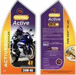 White PVC Lubricant Oil Bottle Stickers Self Adhesive, Model Name/Number: Custom, Size: Standard